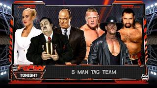 WWE 2K17 - Managers (Paul Heyman, Lana, Paul Bearer) VS Superstars (Brock Lesnar, Rusev, Undertaker)