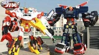 getlinkyoutube.com-헬로카봇2 장난감 4단합체 마이티가드 긴급출동 5단합체 펜타스톰 야외스톱모션 변신자동차 합체로봇 동영상 에니메이션 HelloCarbot2 Transformers