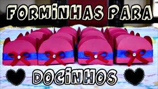 FORMINHAS PARA DOCINHOS | PREPARATIVOS: LORENZO 1 ANINHO