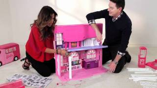 getlinkyoutube.com-FUNdamental Tips to Assemble the Barbie 3 Story Dream Townhouse by Mattel