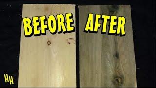 getlinkyoutube.com-Aging Wood - Vinegar & Steel Wool Solution