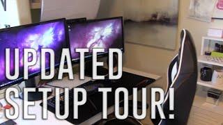 My Updated Gaming/Stream Setup Tour | Kitty Plays