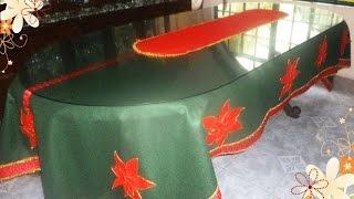 getlinkyoutube.com-Cómo realizar un Hermoso mantel navideño, en fieltro.