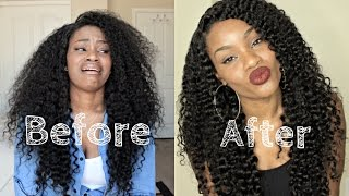 getlinkyoutube.com-Restoring Your  Wigs To New | Curly Wash Routine | DYHair777.com