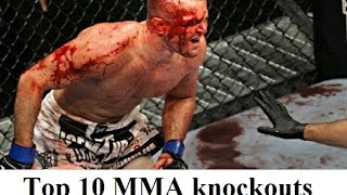 getlinkyoutube.com-Top 10 best brutal, violent UFC/MMA knockouts (KO) ever in history - Mixed martial arts knockouts
