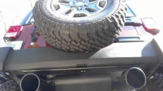 getlinkyoutube.com-2014 Jeep Wrangler JKU Gibson Black Dual Exhaust
