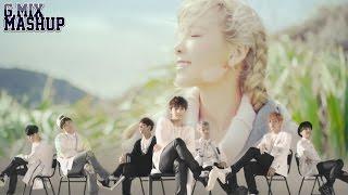 getlinkyoutube.com-Taeyeon Vs. BTS - Just One Day & I (Mashup)