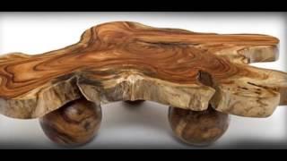 getlinkyoutube.com-Самая красивая мебель. Мебель из спилов дерева.