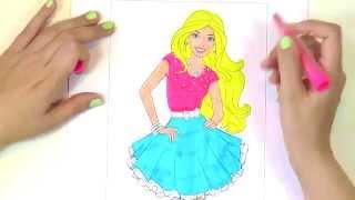 getlinkyoutube.com-Барби: раскраска-мультик / Barbie: coloring pages