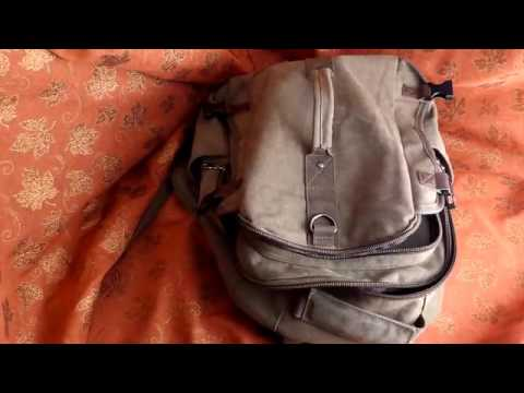 Montera Vintage Canvas Backpack by OdyseaCo