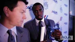 Diddy & Mark Wahlberg lancent leur eau de source AQUAhydrate