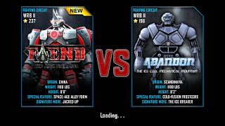 getlinkyoutube.com-Real Steel WRB Championship Fiend VS Abandon NEW ROBOT UPDATE Halloween