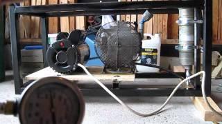 getlinkyoutube.com-4 Stage 3000PSI Scuba Paintball High Pressure Air Compressor