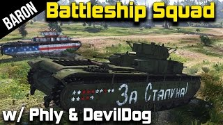 getlinkyoutube.com-T-35 Land Battleship Squad w/ PhlyDaily & DevilDogGamer!  (War Thunder Tanks Gameplay)