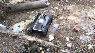 getlinkyoutube.com-RC UGV test履帶車底盤測試