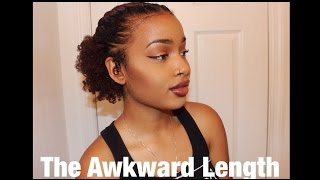Another Super Easy Tutorial for Short/Awkward Length Natural Hair