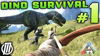 getlinkyoutube.com-ARK Survival Evolved #1: HUNT DINOSAURS!!! -  Gameplay Live Stream