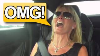 Mom's Reaction to 1250WHP Twin Turbo Gallardo