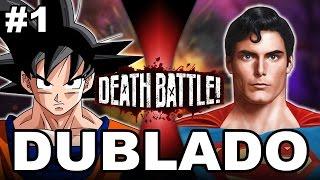 getlinkyoutube.com-DEATH BATTLE! : Goku VS Superman - (DUBLADO PT-BR)