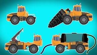 getlinkyoutube.com-Transformer | drill machine | water tank | crane | Videos For Children