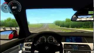 getlinkyoutube.com-BMW M5 F10 || TOP Speed 326 km/h || Brake test ABS || City Car Driving 2.2.7