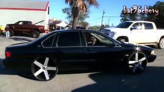 """1996 Impala SS on 26"""" DUB Ballers, BRUSHED Face - 1080p HD"""