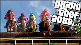 getlinkyoutube.com-EXPLOSIVE HORSE TRACK RACE! (GTA 5 Funny Moments)