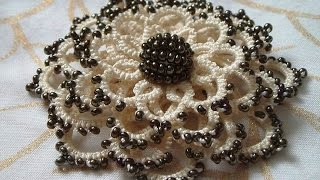 موديلات الكروشي بالعقد (التخريم بالعقد) / Tatting / Crochet / مع أم سعد عبد الله