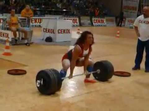 Анета Флорчик - становая тяга 250 кг