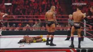 getlinkyoutube.com-Randy Orton & Legacy vs. Kofi Kingston, Evan Bourne & Yoshi Tatsu 2/2 - 2/22/10
