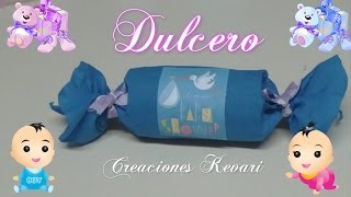 getlinkyoutube.com-Dulcero para Baby Shower Material reciclado/Candy Bag