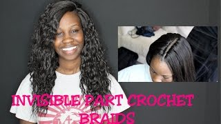 getlinkyoutube.com-Realistic Invisible part Crochet braids and Hot water Curling