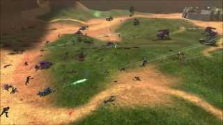 getlinkyoutube.com-Halo: Combat Evolved - Marines vs Covenant on Blood Gulch