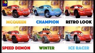 getlinkyoutube.com-Cars Lightning McQueen - Fast as Lightning - All 6 Paint Jobs