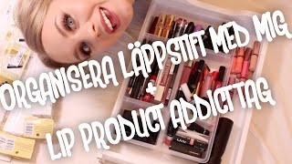 getlinkyoutube.com-Organisera läppstift med mig + Lip Product Addict Tag