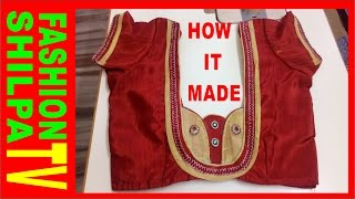 getlinkyoutube.com-how to measure and cut simple blouse/latest easy blouse cutting and stitching with back pattern 2016