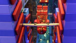 getlinkyoutube.com-Ninjas take on the American Ninja Warrior Obstacle Course! - LEGO NINJAGO