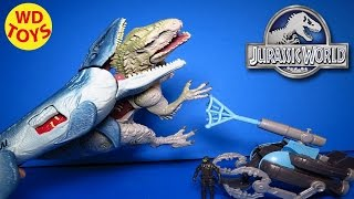 getlinkyoutube.com-New JURASSIC WORLD MOSASAURUS VS. SUBMARINE  & 2015 Hybrid Indominus Rex Unboxing - WD Toys
