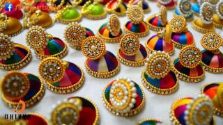 200 Jimikki Kammal / Silk thread earrings at home / Silk thread Jhumkas    DIY