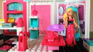 getlinkyoutube.com-Mega Bloks Barbie Fashion Boutique Barbie Doll Life in a Dream House