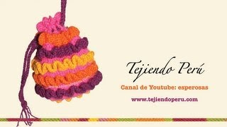 getlinkyoutube.com-Cómo tejer un bolso a crochet con ondas en relieve (wiggly crochet bag)
