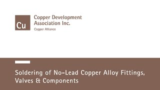 getlinkyoutube.com-Soldering of No-Lead Copper Alloy Fittings, Valves and Components