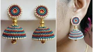 getlinkyoutube.com-Easy Bridal Jhumkas Making - Using Ball Chain