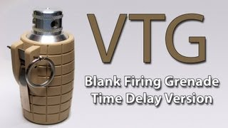 "Airsoft Flashbang Grenade Review - The VTG blank firing ""delay"" grenade"