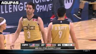 2016 NBA All Star Weekend   CANADA vs USA   Celebrity Game Full Game Highlights