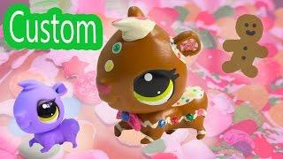 getlinkyoutube.com-Custom LPS Gingerbread Man DIY Littlest Pet Shop Holiday Christmas Rainbow Sprinkle Frosting