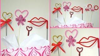 getlinkyoutube.com-DIY Decoraciones hechas con limpia pipas para San Valentin/ Dia del Amor y  Amistad