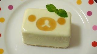 getlinkyoutube.com-Rilakkuma 「Tofu cheese cake ice」 リラックマ 「豆腐チーズケーキアイス」