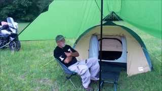 getlinkyoutube.com-Full Motorcycle Campsite Set up
