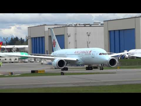 Air Canada 787 & American 777-300 @PAE-April,2014